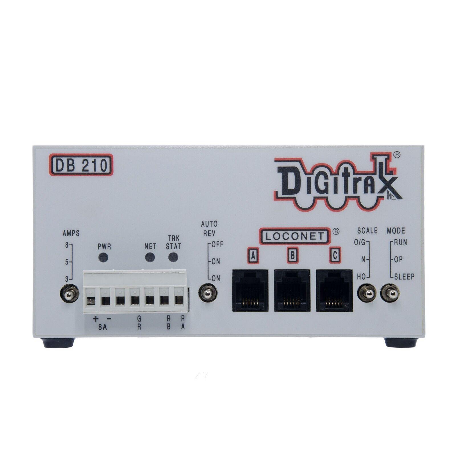 Digitrax  nuovo 2019  DB210 3 3 3 5 8 Amp LocoNet Booster  Auto Reversing  3 Port 2fe0e5