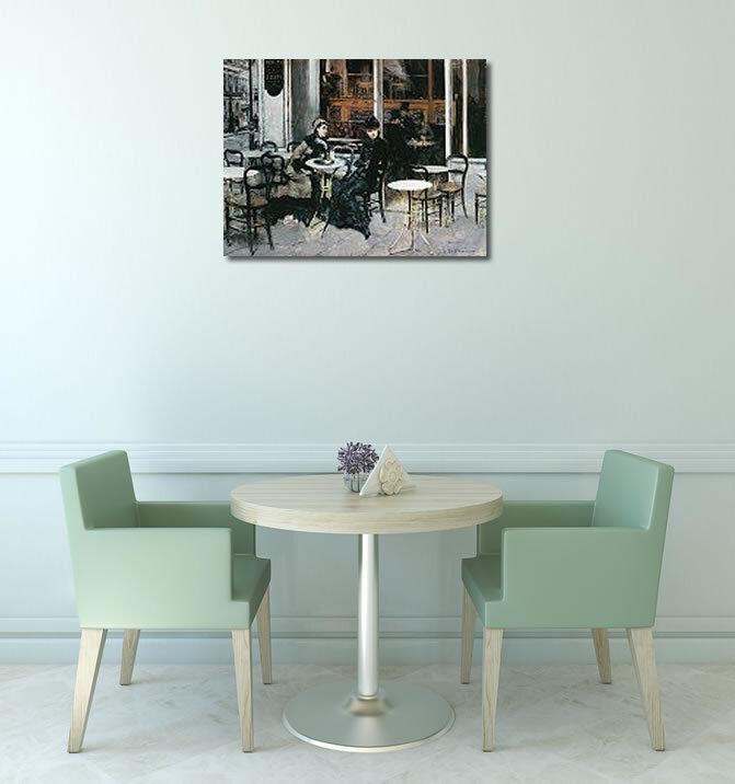 Avoir une maison, avoir de l'amour, as-tu Giovanni Boldini : Parigi Conversazione al caffe Parigi : image-châssis toile Paris 592c73