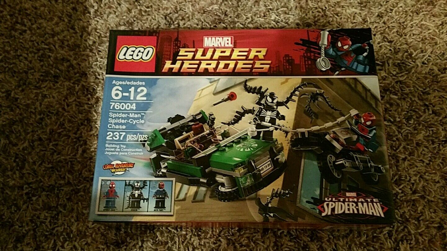LEGO 76004 SPIDERMAN  SPIDER CYCLE CHASE NEW IN BOX