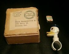 Rare Canadian Variant Donald Duck Living Toy Ring Boxed Kelloggs Corn Flakes