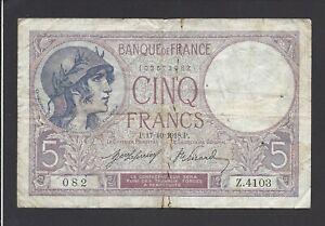 """5 Francs """"violet"""" 1918 @ @ Qhjoznhf-07234152-870552593"""