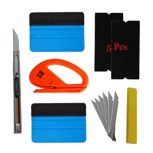 PRO Squeegee Felt Car Vinyl Wrap Tools 10 Blades Snitty Cutter Window Tint