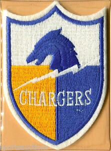 SAN DIEGO CHARGERS Willabee & Ward NFL GOLDEN AGE FOOTBALL PATCH INFO STAT CARD