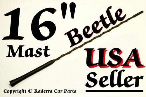 "BEETLE  16/"" AM//FM Antenna MAST 1998-2010 FUBA VW Volkswagen"