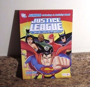 DC Comics Justice League Unlimited Coloring and Activity Book NEW