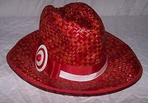 6198 VINTAGE Ladies WILMINE Red Straw Wide Brim Hat SUPER RARE ... f2d851a2a05