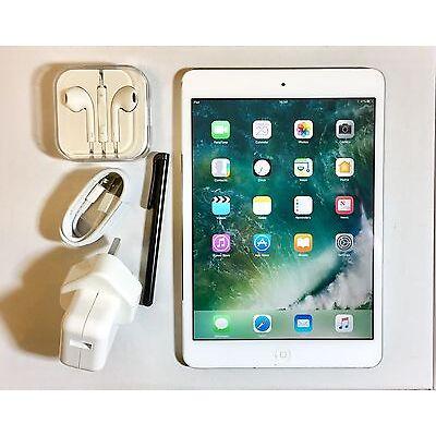 *NEW LIKE* Apple iPad Mini 2 RETINA Display 32GB, Wi-Fi, 7.9in - White + EXTRAS