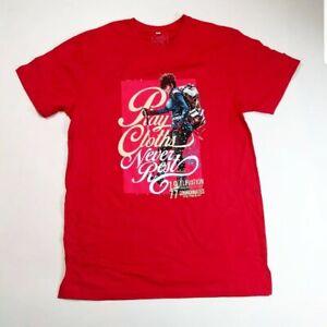 Play-cloths-Men-100-authenitc-S-S-t-shirt-size-large-red-logo