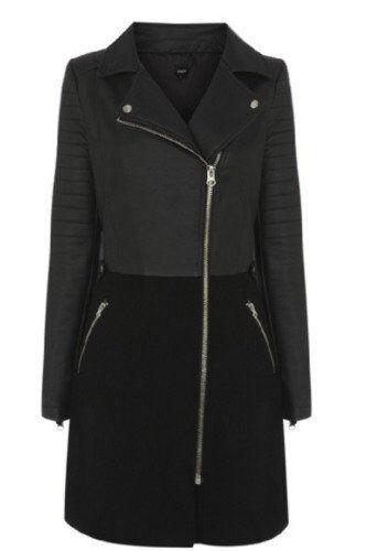 Oasis Faux Leather Biker Coat M