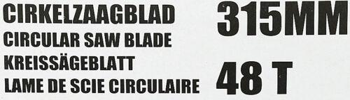 2x HM Kreissägeblatt Set SCH 315 x 30 mm  Sägeblatt  Kreissäge 48 Zahn