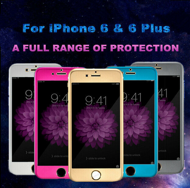 Titanium Alloy Full Coverage Tempered Glass Screen Protector For iPhone 6 & Plus