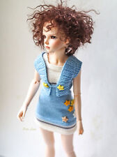 Clothes for dolls 17in, Bolero & dress doll set for Minifee MSD, outfit BJD 1/4