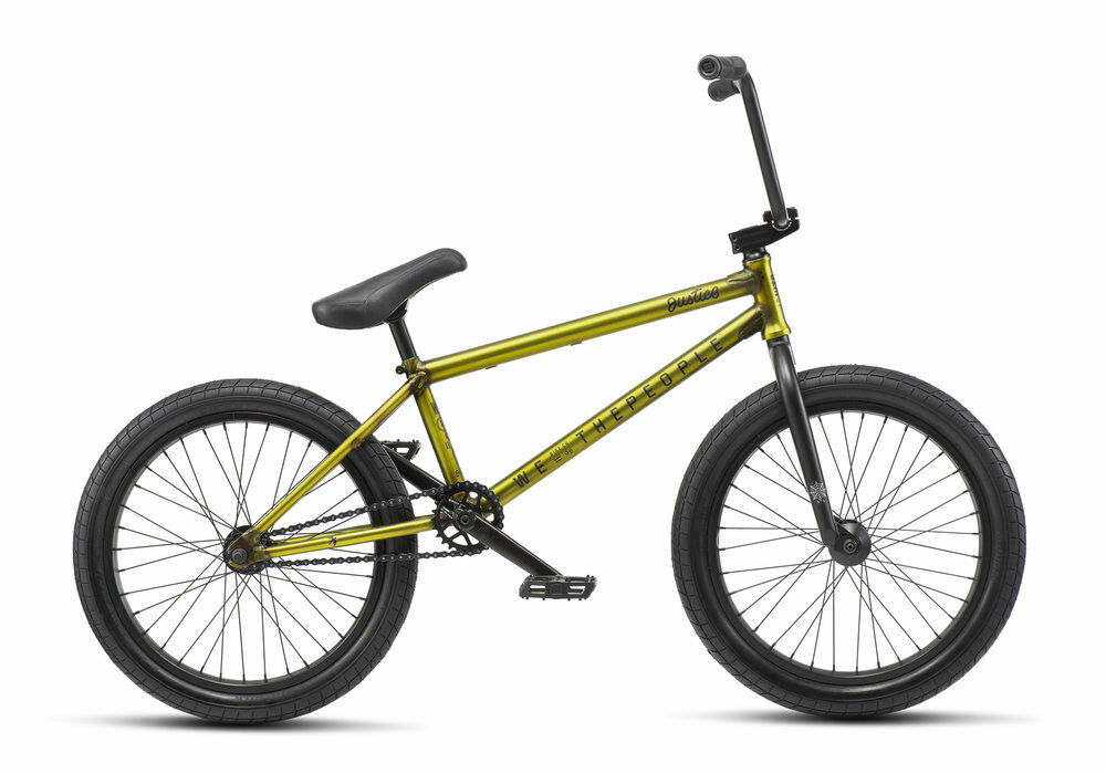 WE THE PEOPLE 2019 JUSTICE 20.75 MATTE TRANS YELLOW COMPLETE BMX BIKE 20.75