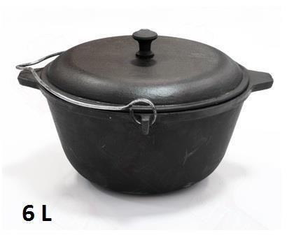 Fonte Durable Wok Cooking Pan Cookware Outdoor Trempé Camping Pot Casserole