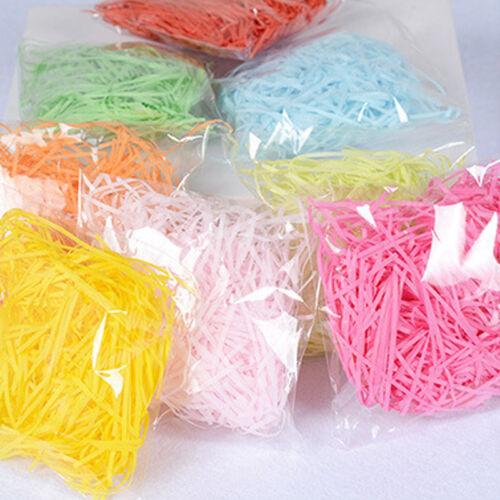 1 Tasche Shredded Crinkle Papier Konfetti Geschenkbox Füllmaterial DIY Dekor Neu