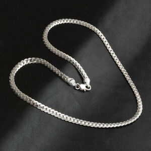 Men-amp-Women-Fashion-5MM-925-Sterling-Silver-Necklace-Pendant-Chain-Jewelry-20-034