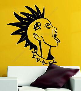 Anarchy-Girl-Punk-Rock-Rebel-Goth-Music-Emo-Decorative-Vinyl-Wall-Sticker-Decal