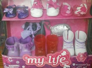 "My Life As 18"" Doll ACCESSORIES SET Shoes Purse American Girl Our Generation NEW"