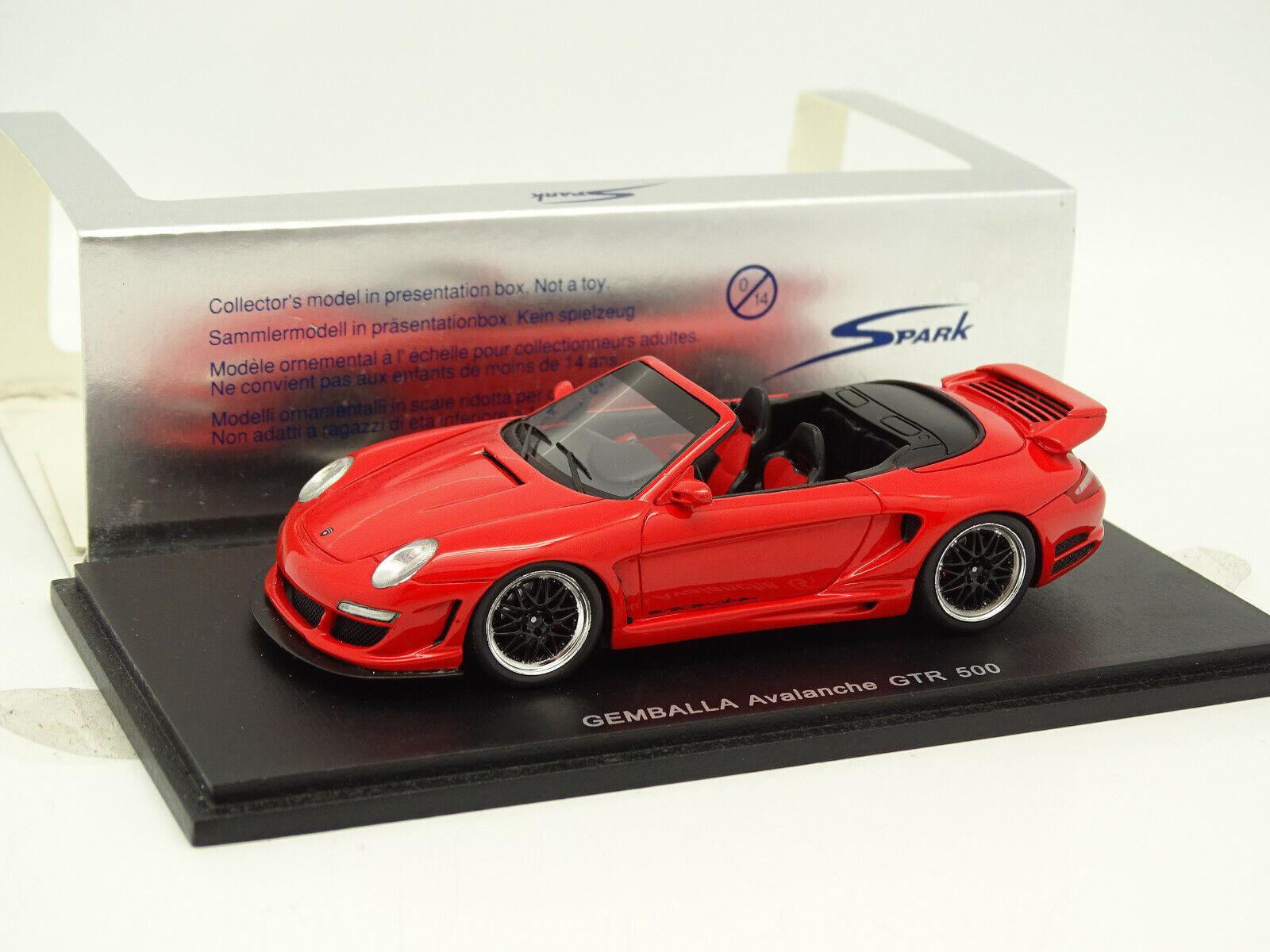 Spark 1 43 - Porsche Gemballa Avalanche GTR 500 rosso