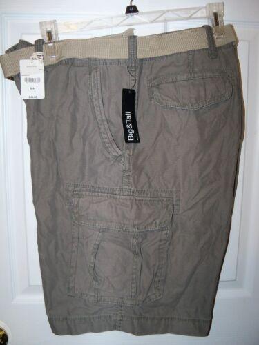 ARIZONA Cargo Shorts /& Belt Mens Size W 44 Seaweed NWT #36