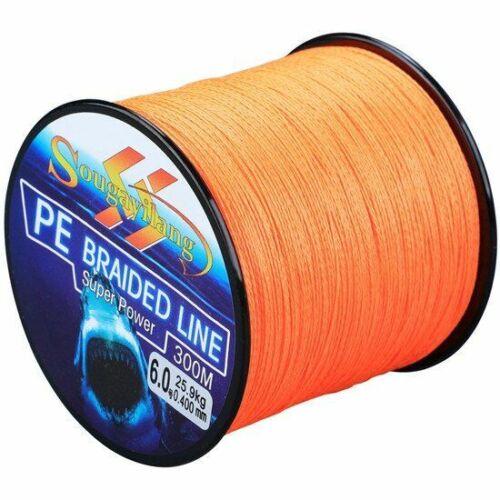 300m 4 Strands Braided Fishing Line 0.6-8.0# Pe Fishing Line 6.3-32.8kg