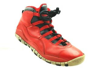 1a3a932e29 NIKE AIR JORDAN X 10 RETRO BULLS OVER BROADWAY RED 705179-601 Size ...