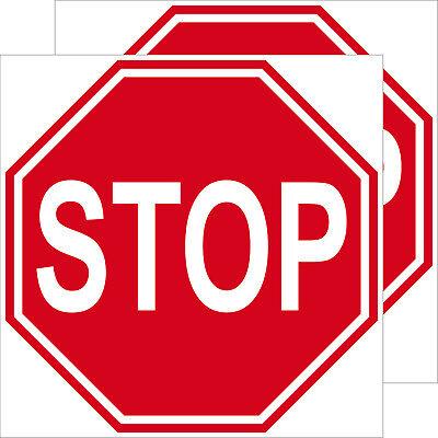 2 Aufkleber 10cm Sticker Stop Schild Hinweis Warnung Tür Arzt Praxis Maschinen Novel In Design;