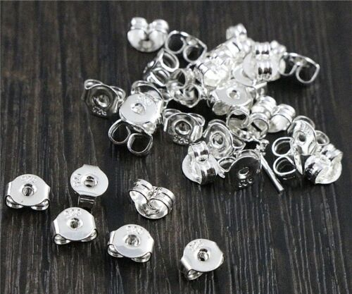 Ohrringschraube Silber 925 Verschluss Ohrstecker Ohrring Festmacher Metall NEU