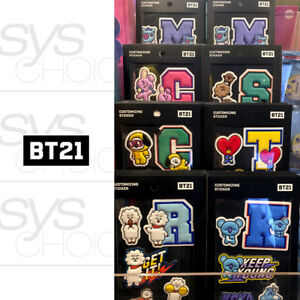 BTS-BT21-Official-Authentic-Goods-Customizing-PU-Sticker-7Characters-Tracking