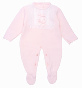 b11f06f3fd5f Image is loading Baby-Girls-Spanish-Style-Lace-amp-Bow-Knitted-