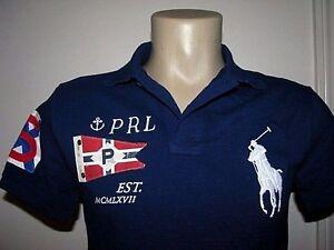 Slim Fit (S) Polo-Ralph Lauren Maille Grand Poney   Drapeau Polo ... 0a331d31bdf