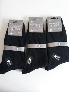 Hommes: Vêtements Vêtements, Accessoires Creative 9 Paires De Chaussettes 100% Coton Noires Tailles 43/46 Livraison Gratuite
