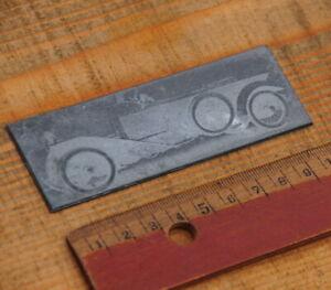 Oldtimer Druckplatte Klischee Bleisatz Buchdruck Letterpress Druckstock Drucker*
