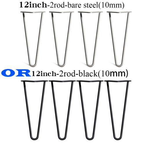 "28/"" Designer Vintage 10mm Raw Steel Dinning Desk Trestle Hairpin Table Leg 14/"""