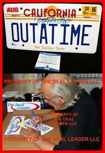 🔥 Christopher Lloyd Back To The Future OUTATIME Signed License Plate Beckett 🔥
