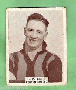 LARGE-SIZE-1933-VFL-WILLS-CIGARETTE-CARD-192-E-PERRETT-PORT-MELBOURNE