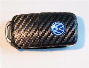 VW-Golf-GTI-Polo-6-5-VI-V-R32-Carbon-style-Key-sticker-with-side-LED