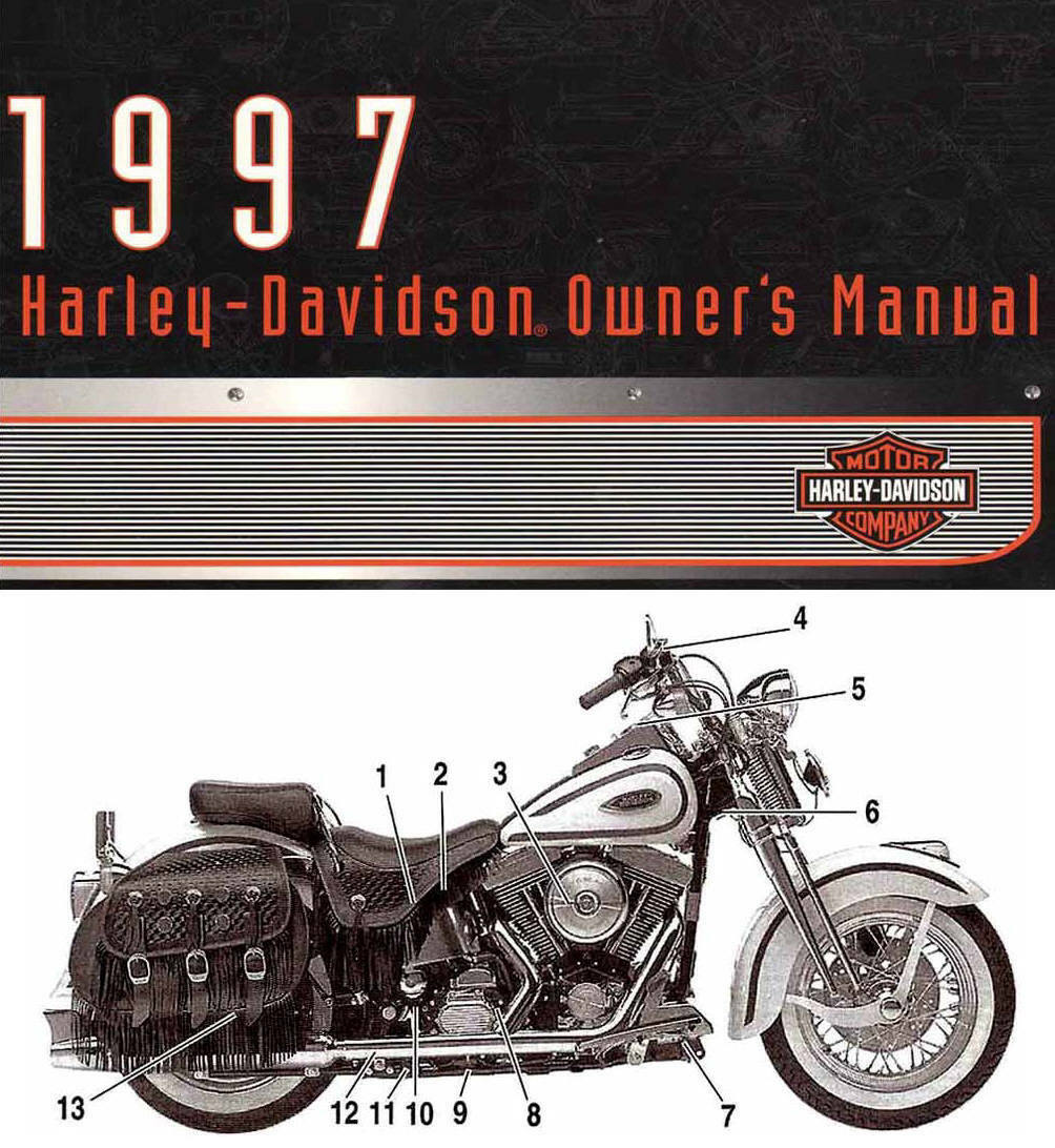 1997 Harley Davidson All Models Owners Manual Sportster Softail Dyna  Electra | eBay