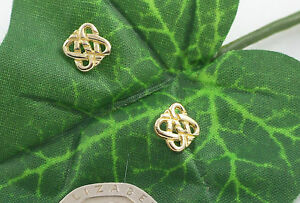 Sassi-CG85-Ladies-375-9ct-Yellow-Gold-Celtic-Knot-Stud-Earrings