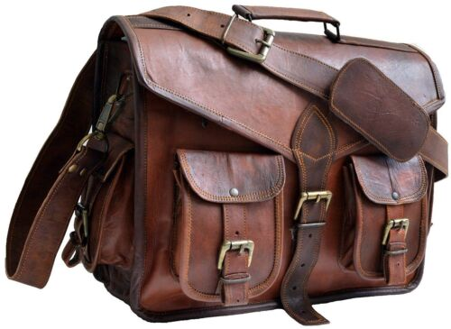 Leather Bag BusinesS  Messenger Laptop Shoulder Briefcase  Heavy Duty India