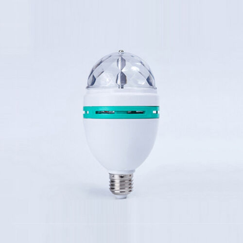 E27 3W RGB LED Stage Light Bulb Color Changing  Rotating Lamp Party DJ Light、 GZ