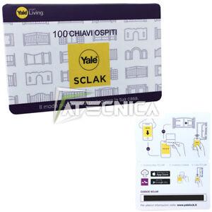 Pack 100 Codes Keys Guest YALE Sclak YISCGK100 Codes Lock YALE