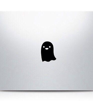 Cartoon Ghost vinyl sticker for MacBook Air Retina Pro laptops. Australian made