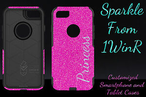 hot sales 87c00 0c834 Details about Otterbox Commuter Personalized Glitter Case for 5.5 iPhone 7  Plus Ht Pink/Silver