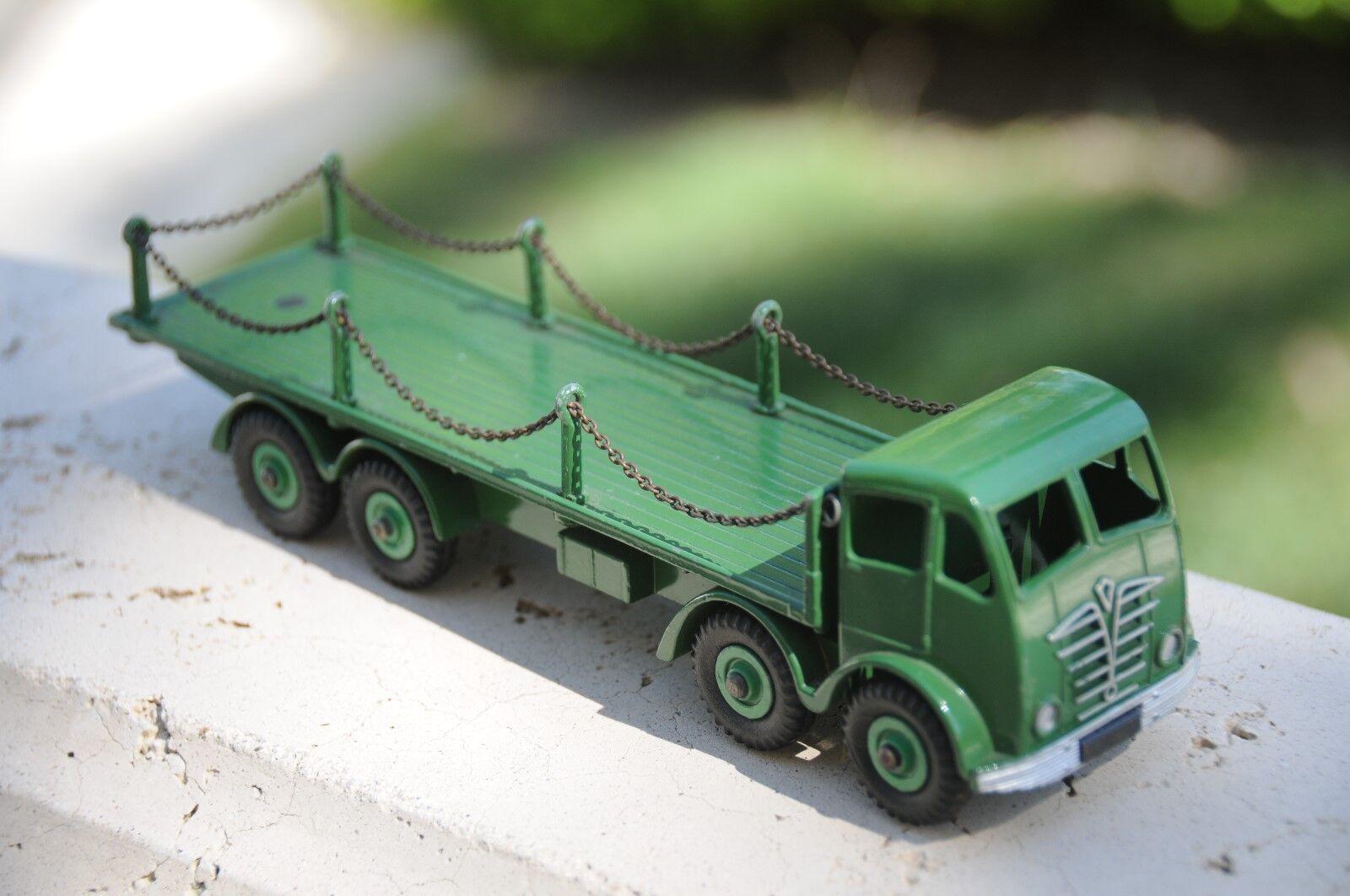 Vintage Dinky MIB Supertoys   camión plana Foden 8 ruedas con cadenas no. 905 - 1