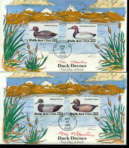 Efficace Rawlins Peint à La Main = 1985 Scott # 2138-41 = Duck Decoys Ua 2 Couvre-afficher Le Titre D'origine Nombreux Dans La VariéTé