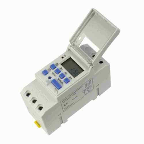 DIN Rail Digital LCD Power Programmable Timer DC 12 V 16 A Time Relais interrupteur KJ