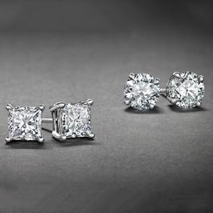 925-Silver-2ct-Cubic-Zirconia-Stud-Earrings-6mm-Silver-Stud-Earrings-SET