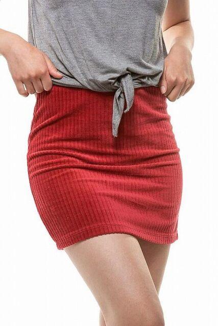 Double Zero Women's Skirt Retro Red Size Large L Corduroy Rib Mini $38 #499