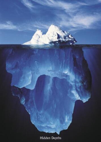 Eisberg Poster 61 x 91,5 cm Hochformat Premium Plakat Wasser Landschaft